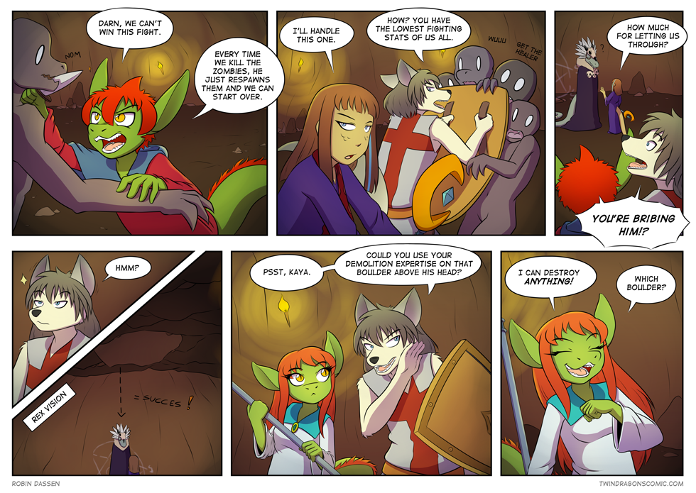 Twin Dragons comic page 145 by Robin Dassen